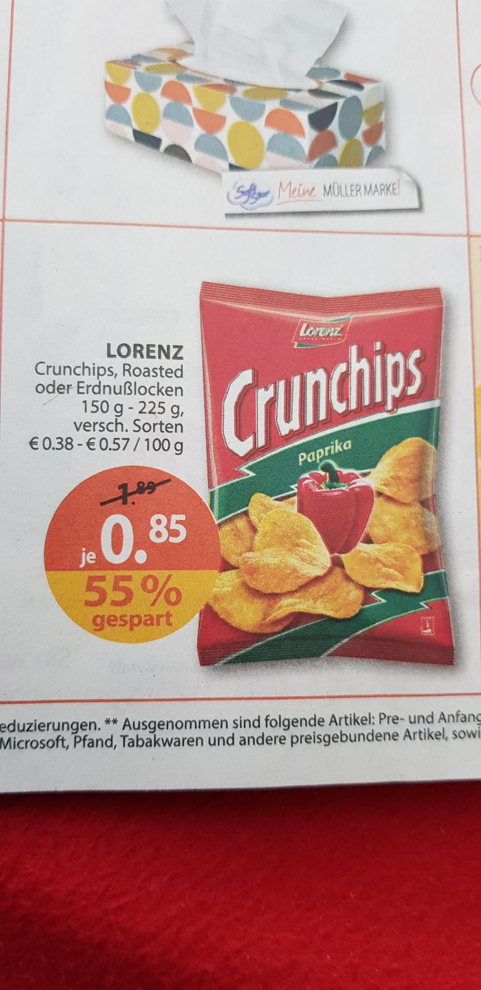 Erdnusslocken/ Crunchips von Lorenz