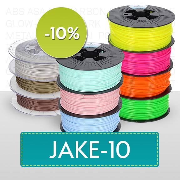 10% auf Filamente der Marke 3DJake