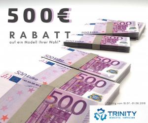 500€ Jubiläums-Rabatt bei allen Elektrorollern von Trinity Electric Vehicles bis 1.8.18