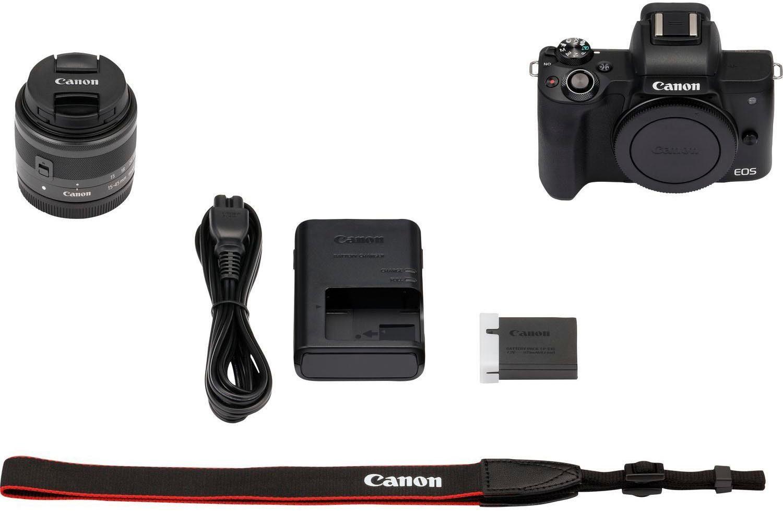 Canon Eos M50 Kit - System Kamera mit 4K Video & Mikrofon Eingang