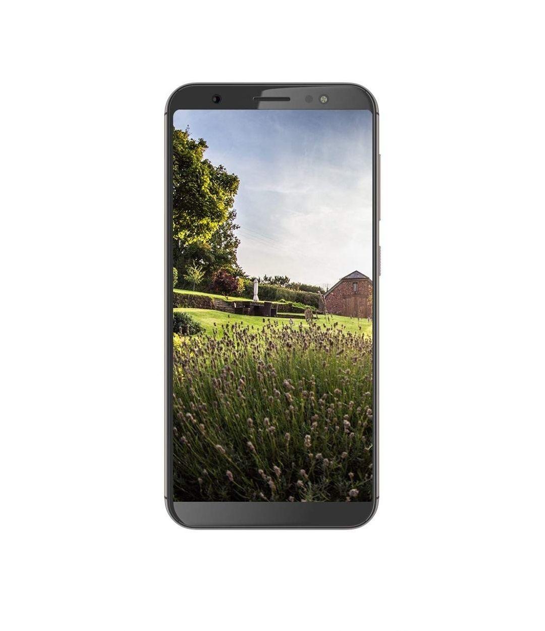 (Amazon Blitzangebot) Gigaset GS185 Smartphone - 18:9 Touch-Display (5,5 Zoll); 16GB Speicher – (Slot für 256 GB Zusatzspeicher, Android 8.1); Dual-Sim; Fingersensor; Made in Germany - Metal Cognac