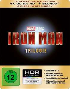 Iron Man-Trilogie Steelbook Limited Edition (4K Ultra HD Blu-ray) für 39,97€ (Amazon)