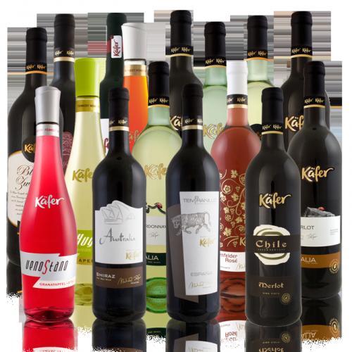 6 Flaschen Käfer Feinkost Wein für 19,99 € @ Ebay