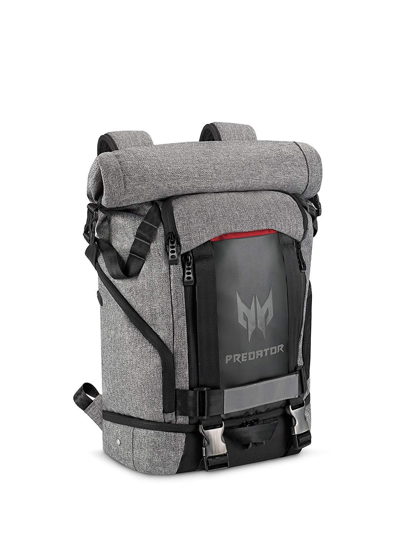 """Acer Predator Rolltop Rucksack (Gaming-Rucksack, Wasserdicht, 35,5 Liter Fassungsvermögen, 1,32kg, bis max. 100kg belastbar, für max. 15"""" Laptop) [nbb]"""