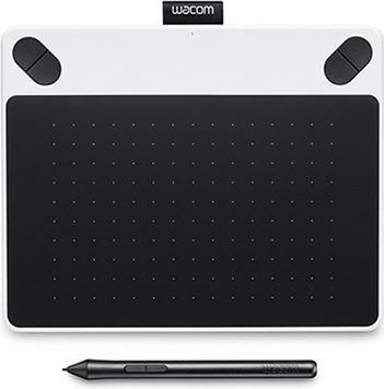 Wacom Intuos Draw Pen Small Grafiktablet in weiß (2540 lpi Auflösung, 2048 Druckstufen)