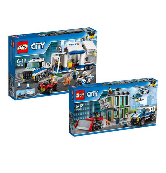 LEGO Bundle Mobile Einsatzzentrale (60139) und Bankraub mit Planierraupe (60140) [Galeria Kaufhof]