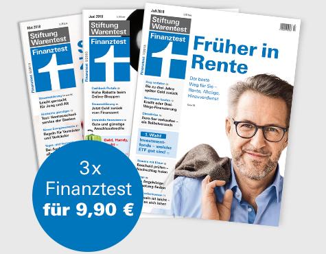 [Stiftung Warentest/ Neukunden] 3 Ausgaben Finanztest + test und Finanztest Archiv 2016 + 2017 als CD (i.W.v. 30.20 €) für zusammen 9,90 €
