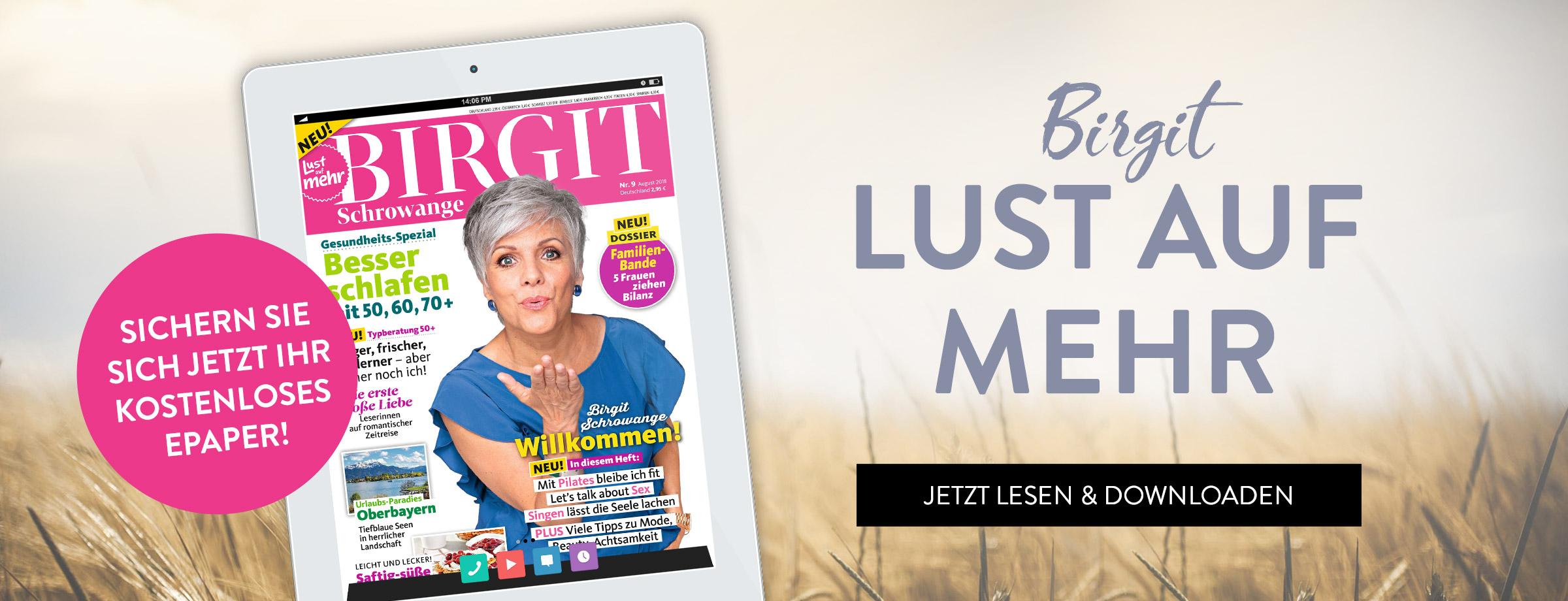 """Geschenk - eine kostenlose, digitale Ausgabe von """"BIRGIT - Lust auf mehr""""."""