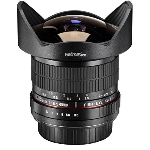 Walimex Pro 8 mm f1:3,5 Festbrennweite manueller Fokus Ultraweitwinkelobjektiv (geeignet für Canon EF Mount Kamera Objektiv für Systemkamera Canon EOS 1200D 5D 80D 1D Mark II N 1D Mark III) für 191,20€ Prime (Händler)