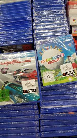 [Lokal Centro Oberhausen Saturn] Everybodys Golf & Wipe Out Omega Collection PS4 für 10 €