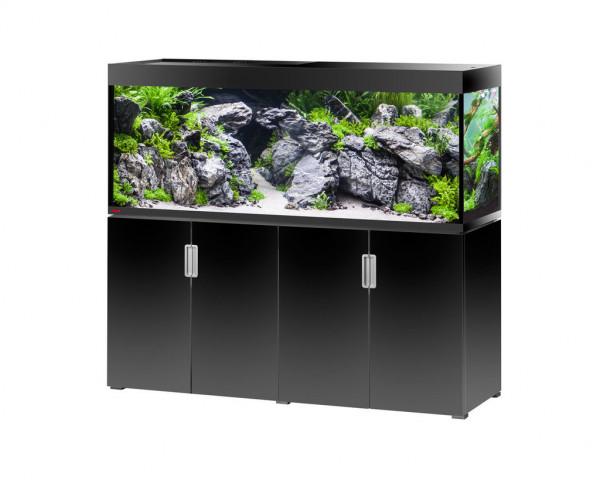 EHEIM incpiria 500 Aquarium mit Unterschrank schwarz hochglanz 99,6% reduziert!