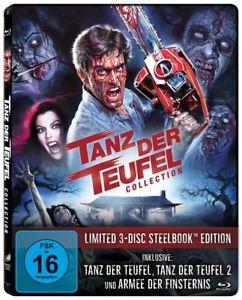 Tanz der Teufel 1+2+3 Steelbook Blu-ray Trilogie Limited Edition Uncut