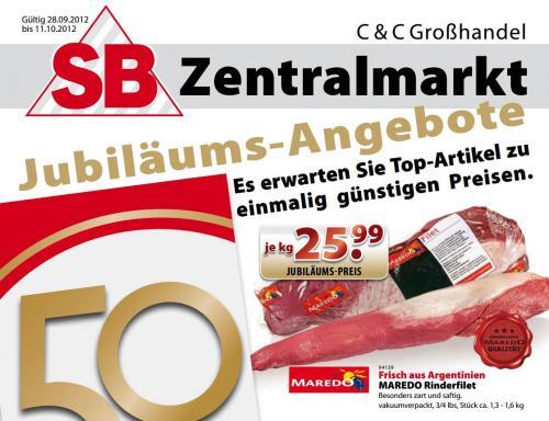 """[Lokal """"mehrere Standorte""""] Maredo Rinderfilet für 27,80 €/kg brutto - SB-Zentralmarkt"""