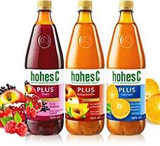 (Jawoll) Hohes C Plus, Orange oder Mehrfrucht, die 1 Liter-Flasche für 89 Cent