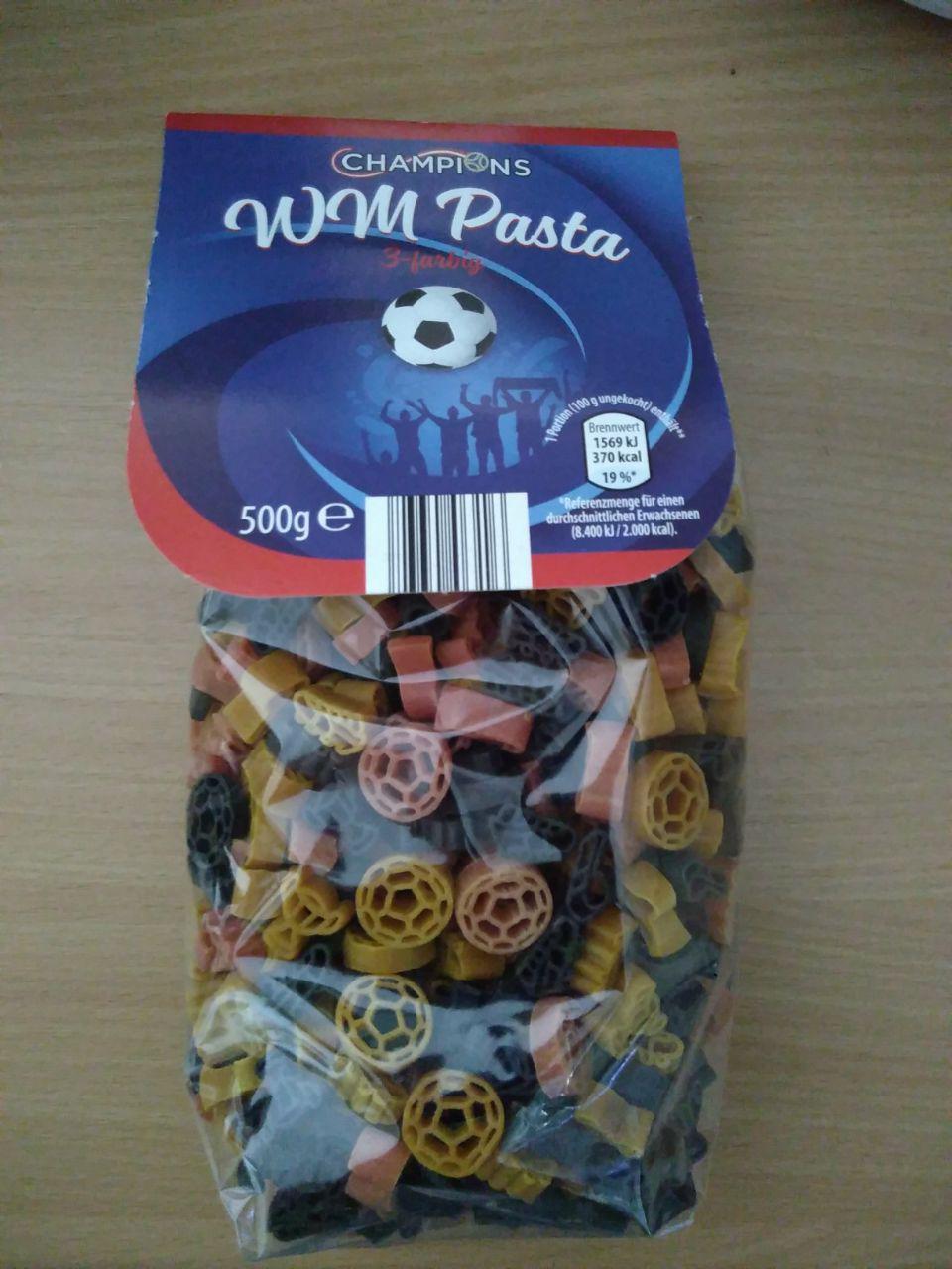 [lokal? Bad Neustadt/Saale] Aldi Champions bunte WM-Pasta 3-farbig 500g