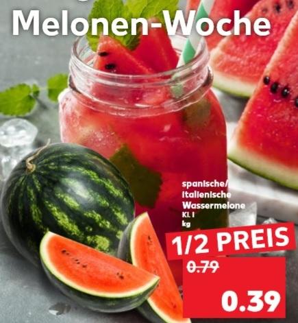 Ab 26.07 Kaufland Wassermelonen für 0,39€ / Kg + weitere Angebote