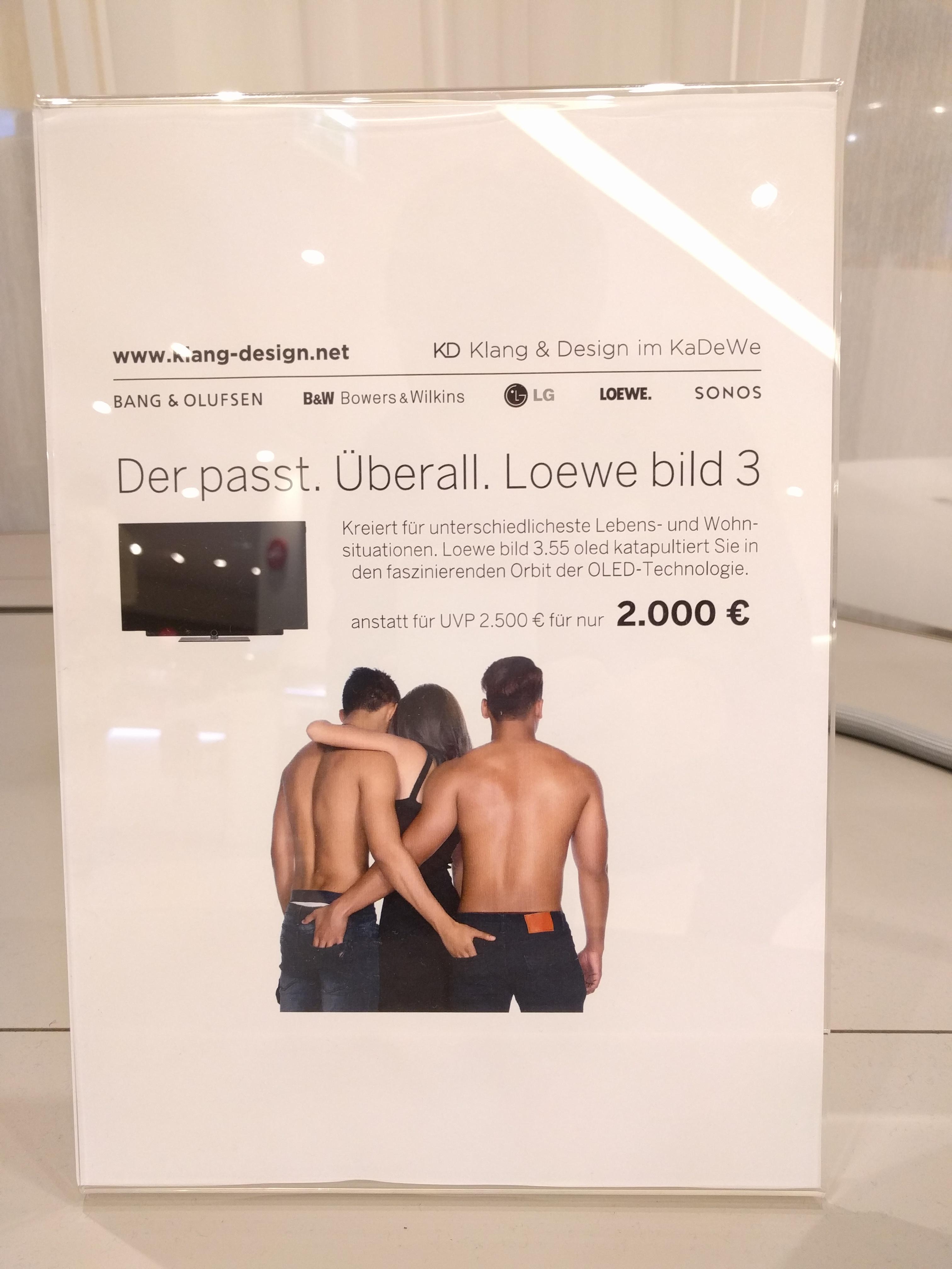 Loewe Bild 3.55 OLED im KaDeWe Berlin