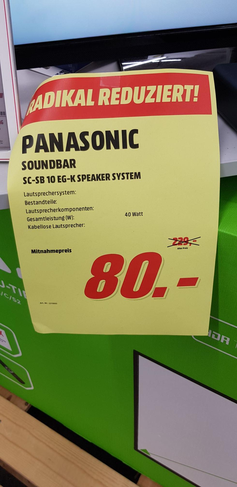 [Lokal Media Markt Offenburg] Panasonic SC-SB10EG Soundbar
