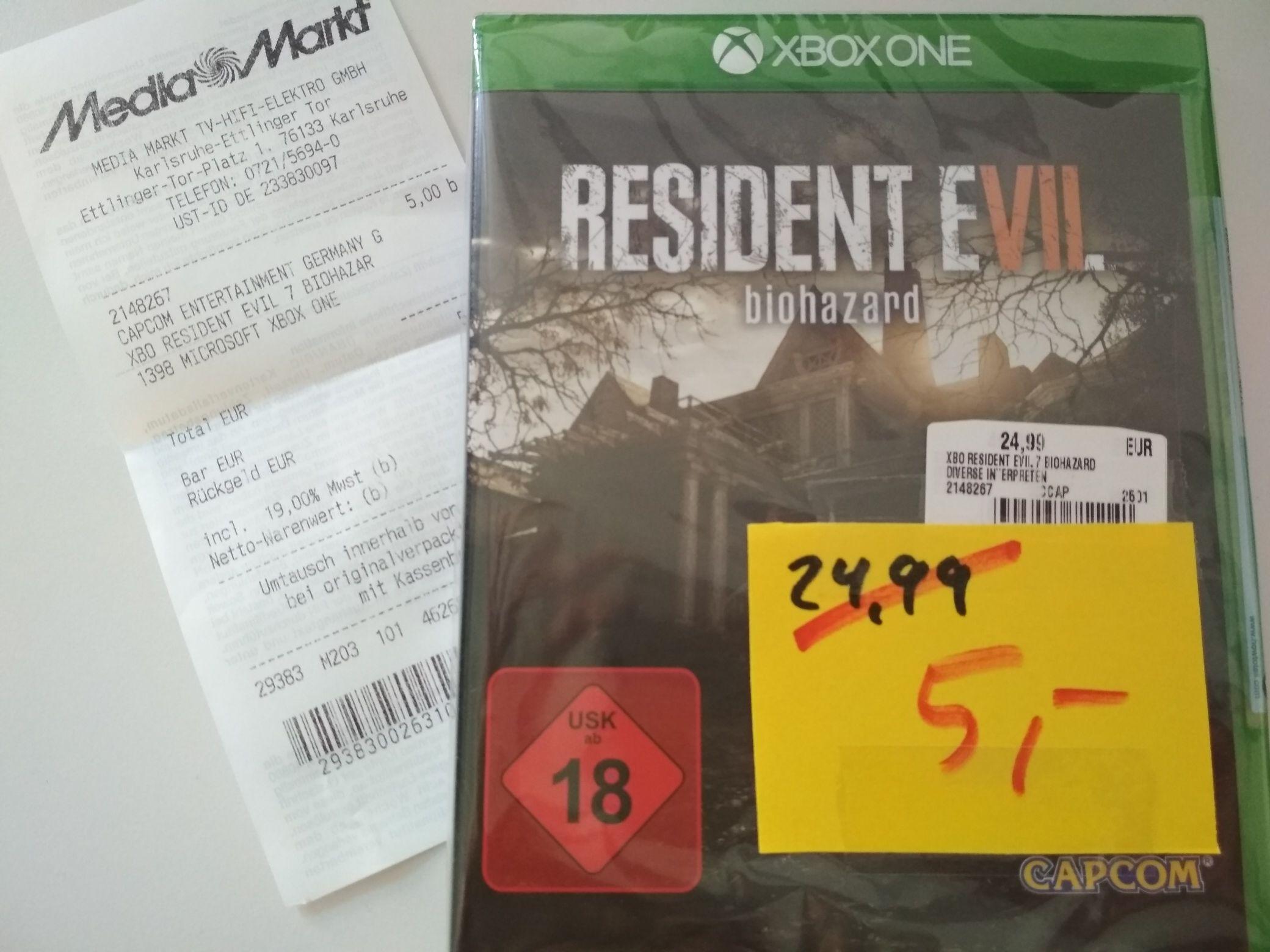 [Lokal KA] [Media Markt] Resident Evil 7 Biohazard Xbox One