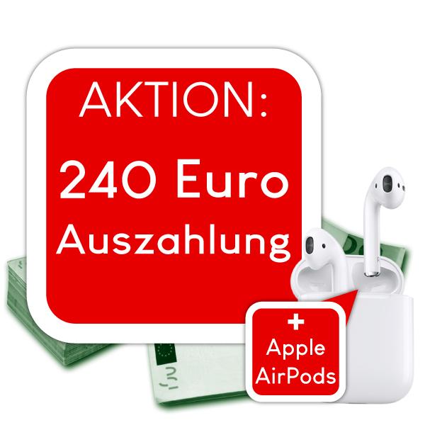 Vodafone Data GO L 12GB LTE 240€ Auszahlung + Apple Airpods für effektiv 17,49€ im Monat