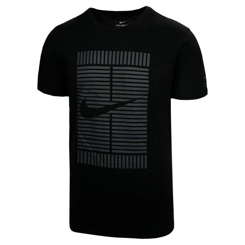 Nike T-Shirt Tee Oz Tennisshirt in schwarz oder weiß für Herren im Angebot bei Filialabholung