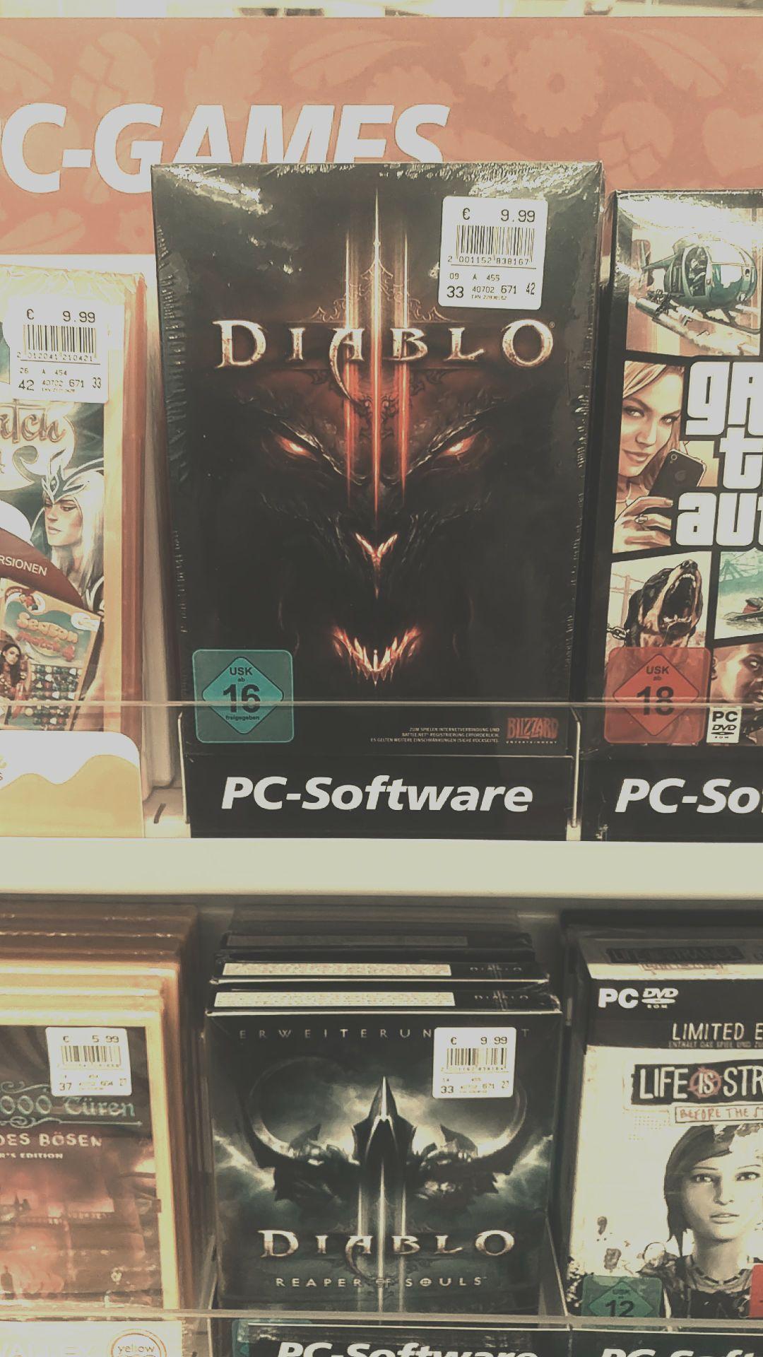 [Lokal Frankfurt Oder] Hardcover Version Diablo 3 / RoS jeweils 9,99