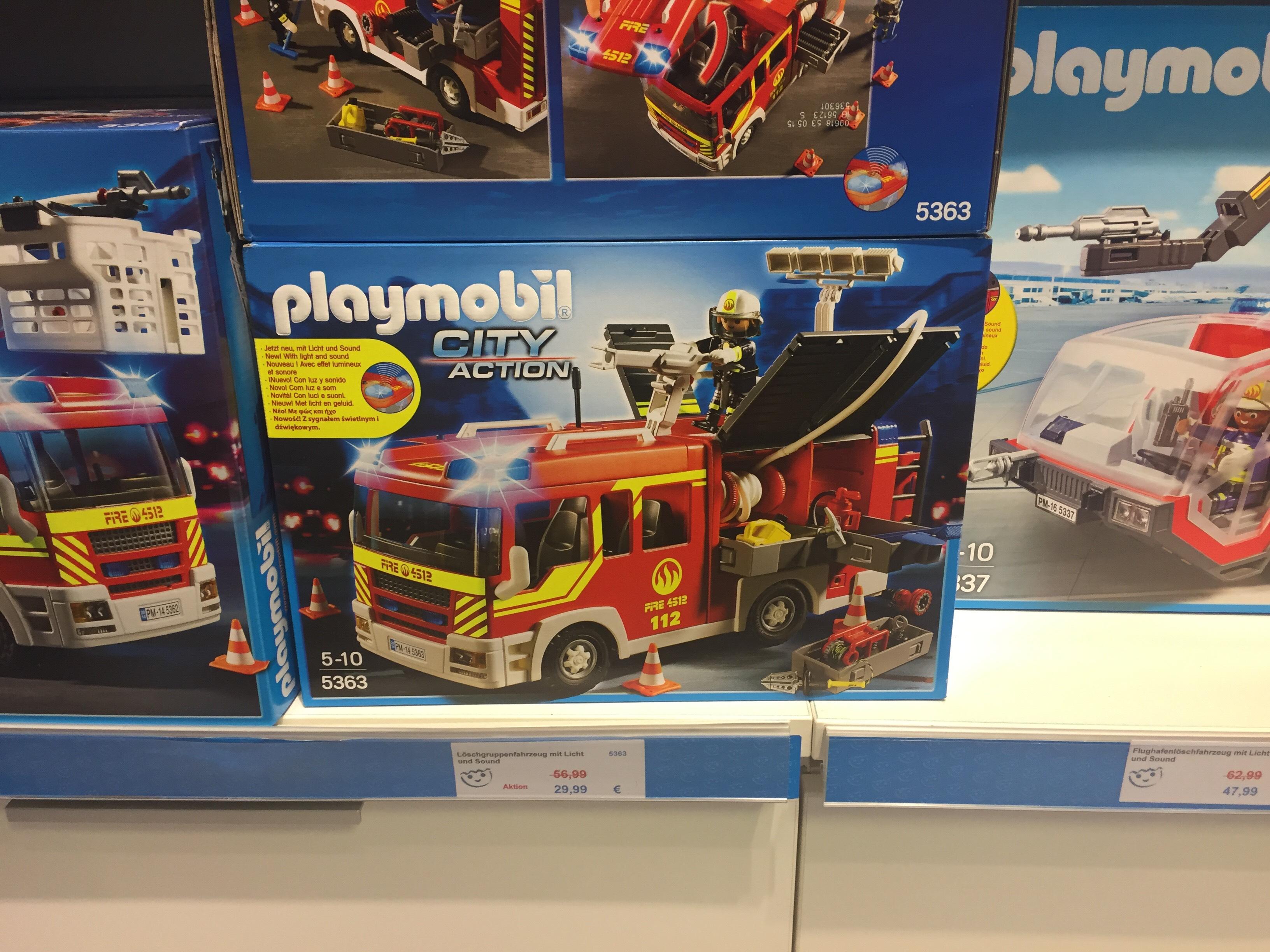 (Lokal) Düsseldorf Arcaden: Playmobil Löschgruppenfahrzeug (5363) für 29,99