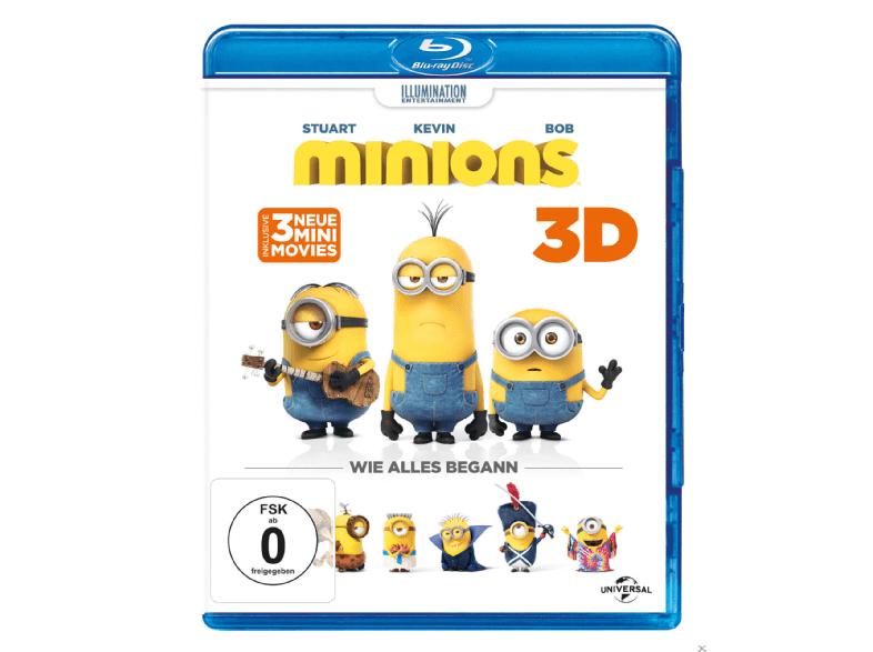 [Media Markt - Gönn dir Dienstag Angebot] Minions 3D (+2D) BluRay inkl. Handyhülle