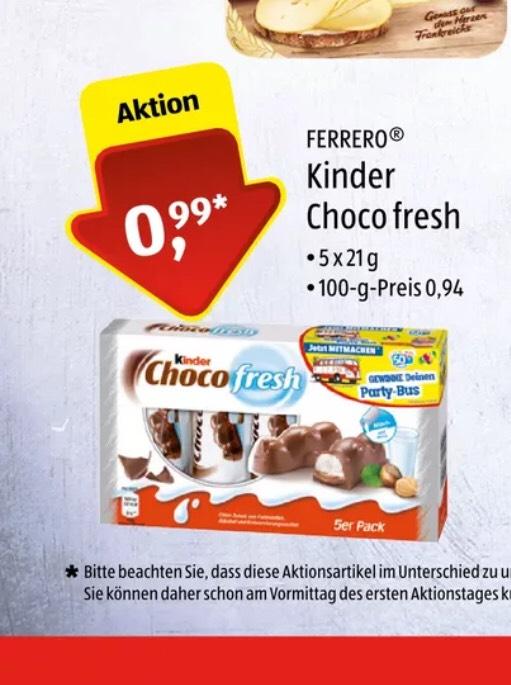 [Aldi Süd] Kinder Choco Fresh 03.08-04.08 Überall wo es Aldi Süd gibt