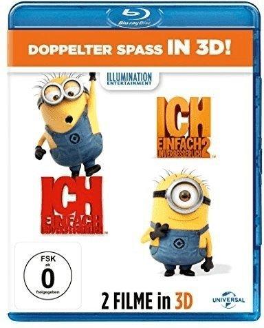 Ich - Einfach Unverbesserlich 1+2 (3D Blu-ray + 2D) + Universaltasche Minions Hanging Blau/Gelb für 19€ versandkostenfrei (Media Markt)