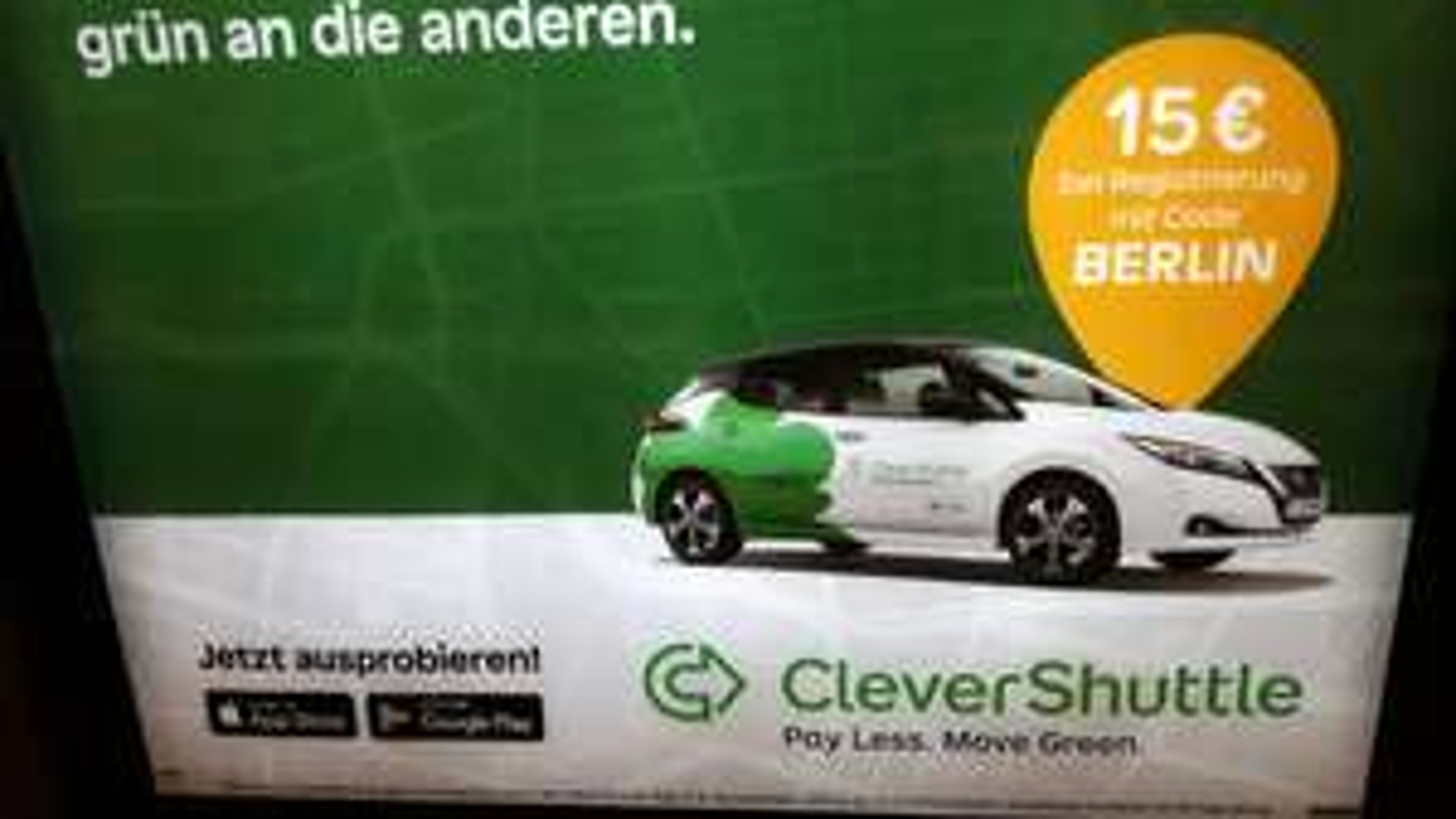 CleverShuttle - Berlin. Bei Registrierung 15€ Guthaben