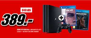 [Grenzgänger Deal-Mediamarkt Schweiz] Sony PlayStation 4 (PS4) Pro 1TB + Detroit: Become Human (PS4) + Uncharted: The Lost Legacy (PS4) für 335,-€**Kein Versand nach Deutschland**