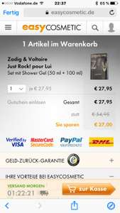 Zadig & Voltaire Just Rock! pour Lui 50 ml EdT Set mit Shower Gel  bei Easycosmetic