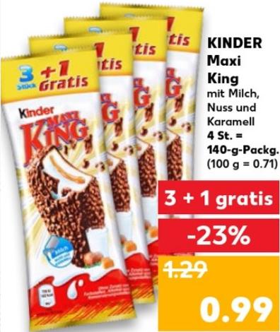 [Kaufland] 3+1 Maxi King für 25Cent/Stück (26.07-01.08)