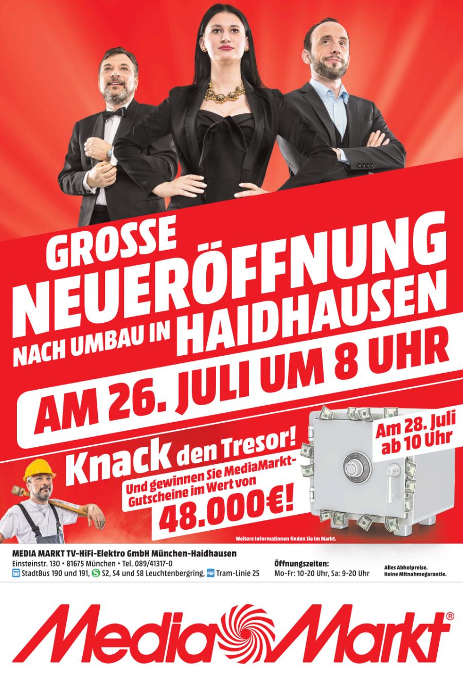 (Lokal) Media Markt München-Haidhausen Neueröffnung nach Umbau am 26.07.2018