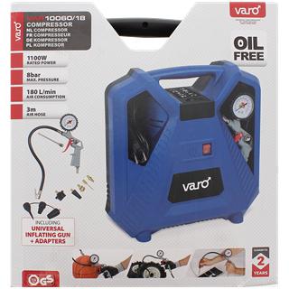 Wochenangebot Action [Varo Kompressor, 8 bar, 1100 Watt mit Zubehör für 39,95]