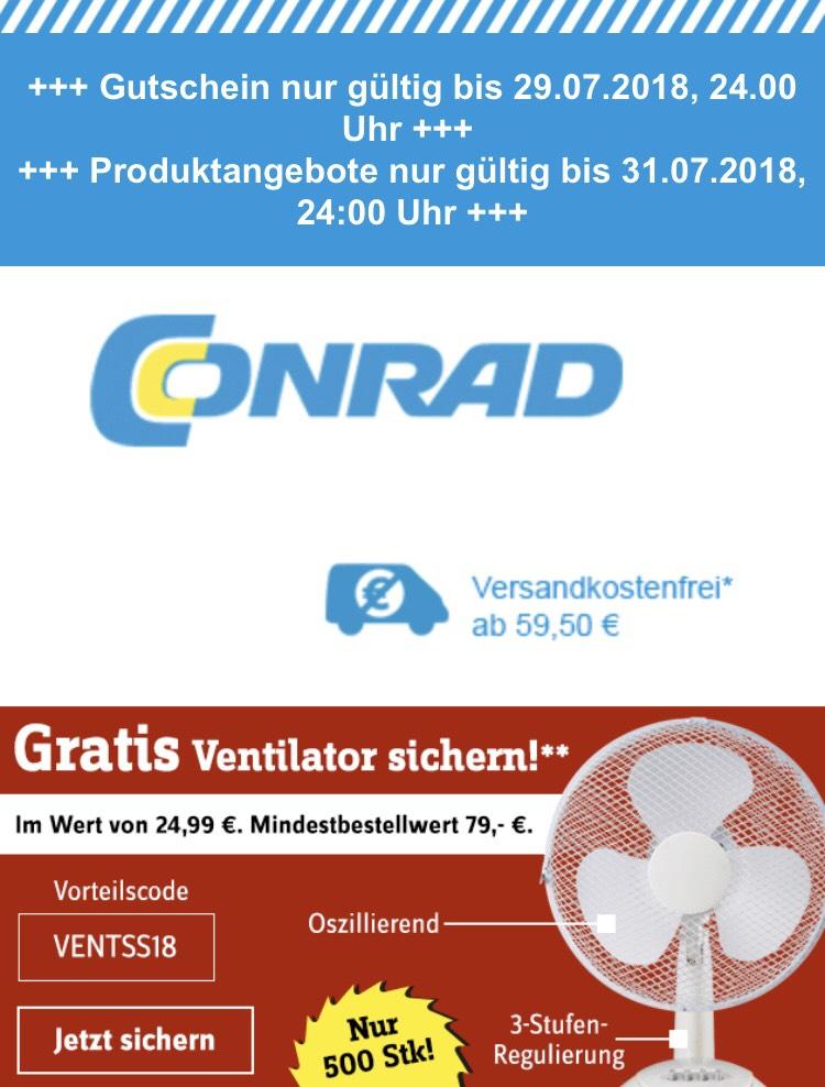 Gratis Ventilator ab 79€ MBW bei Conrad