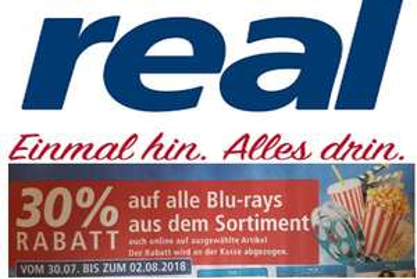 [real] 30% Rabatt auf alle Blu-rays (30.07. - 02.08)