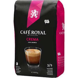 1kg Kaffeebohnen Cafe Royal Crema für 7,49 incl. Versand