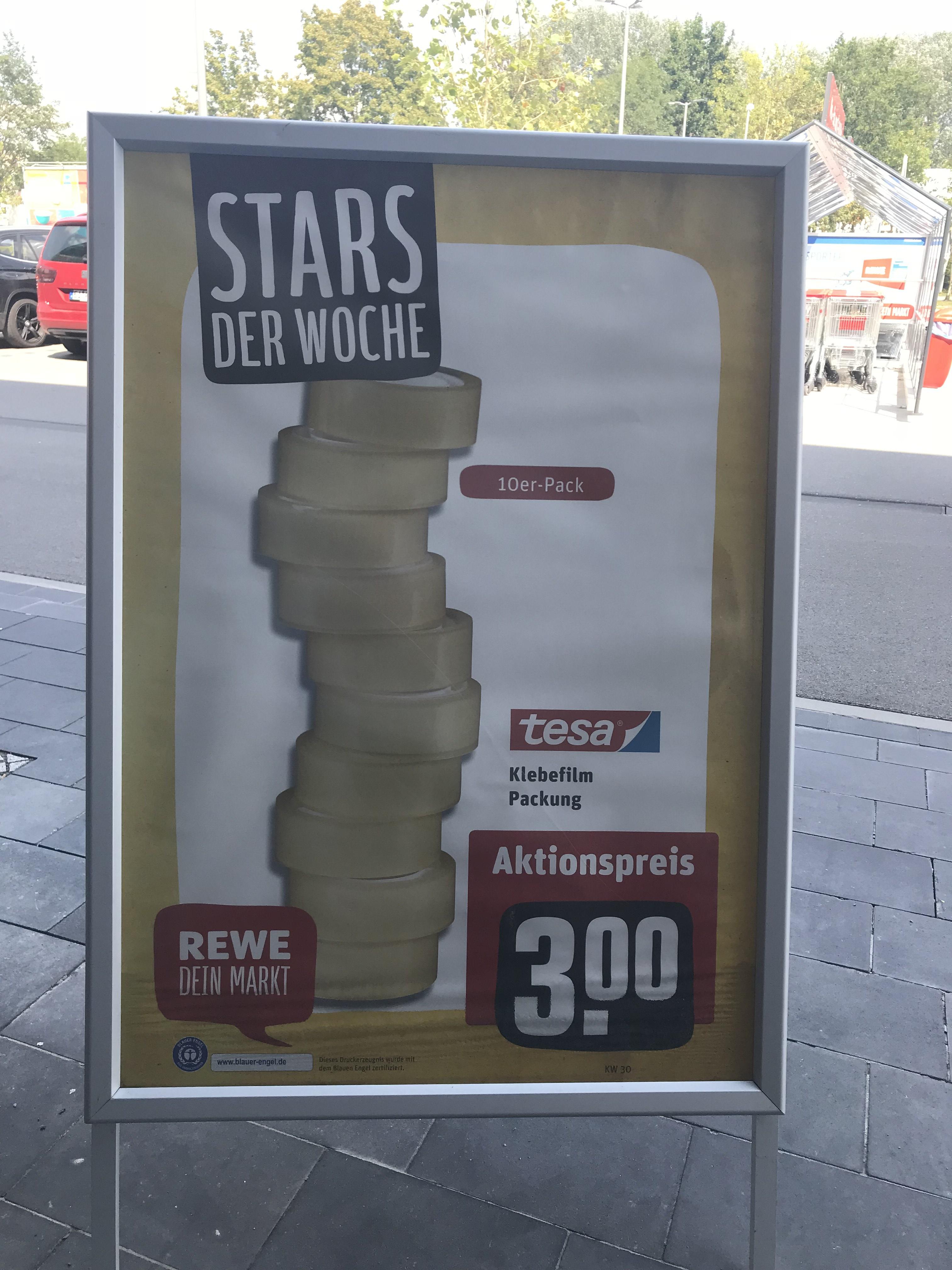Rewe: 10 Rollen Tesa Tesafilm für 3€