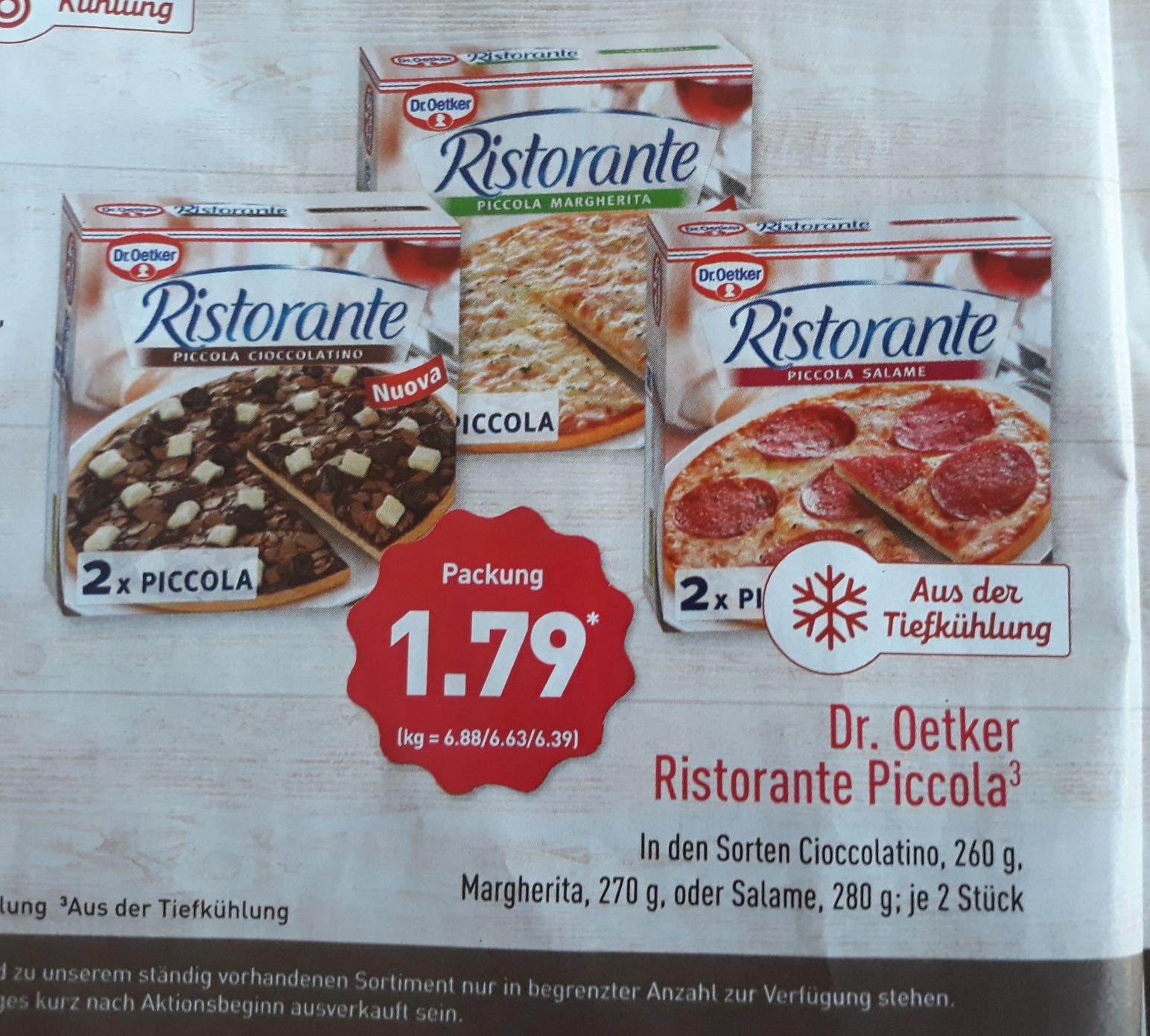 [Aldi Bundesweit] Ab 30.07:  Dr. Oetker Ristorante Piccola verschiedene Sorten 1.79€