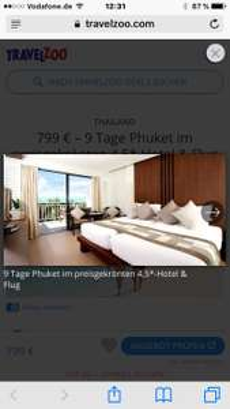 Rewe Reisen 799 € – 9 Tage Phuket im preisgekrönten 4,5*-Hotel & Flug