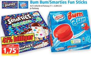 [Norma] Schöller BUM BUM / Smarties Fun Sticks - ab 30.07.