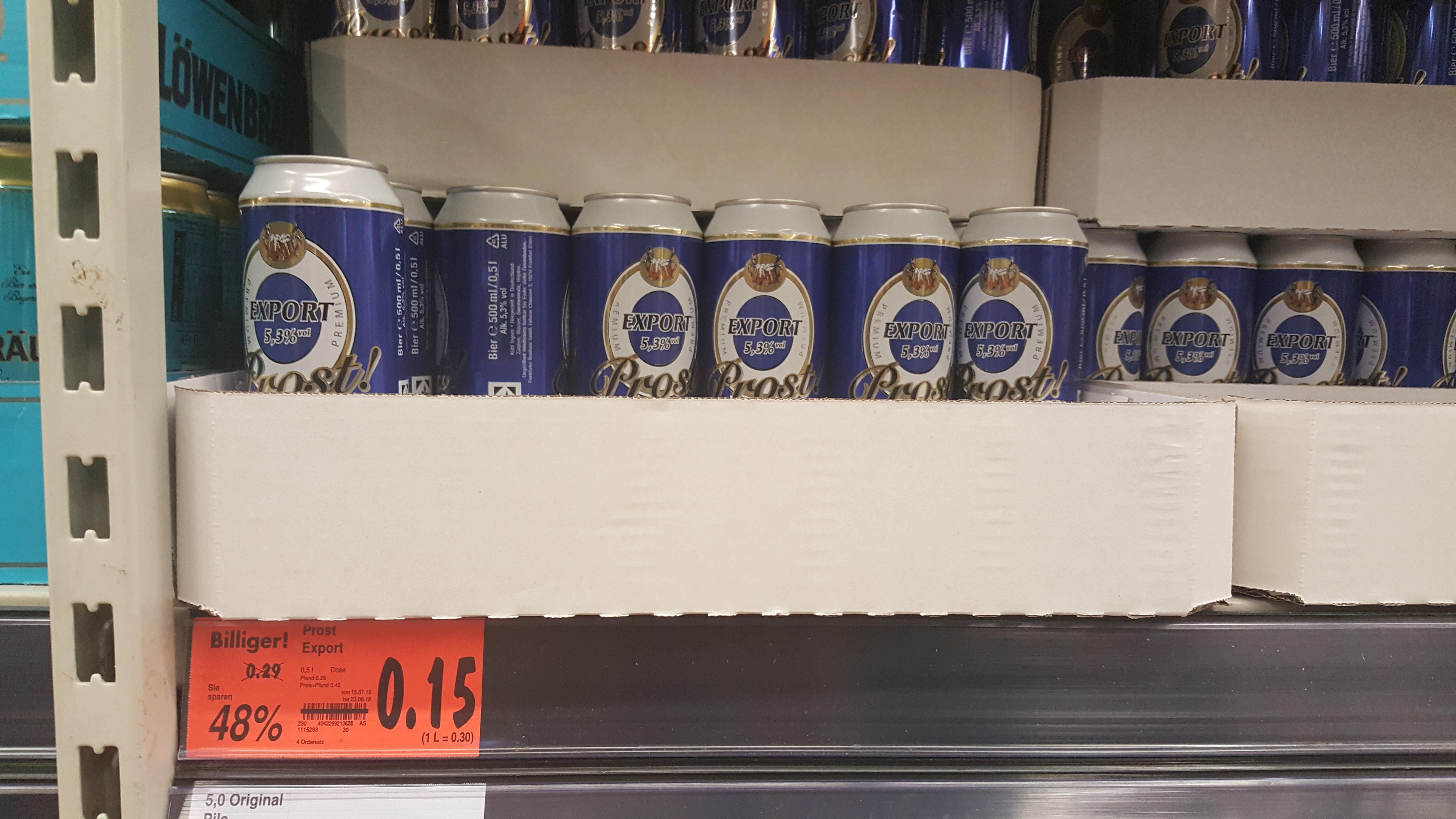 Lokal Kaufland Kaufbeuren Prost Bier zum Schleuderpreis