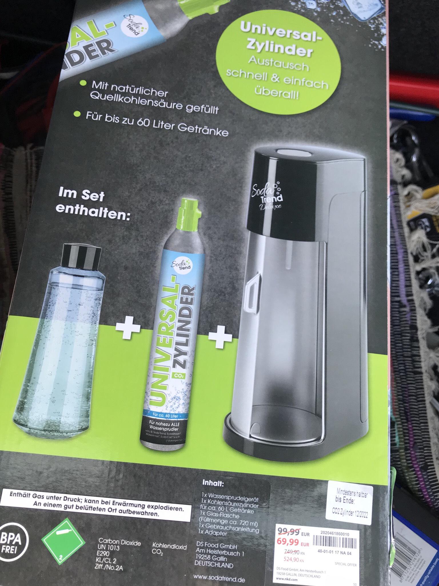 NKD (Lokal Poing) vielleicht Deutschlandweit Soda Trend Deluxe Set Flasche + 60 Liter Zylinder