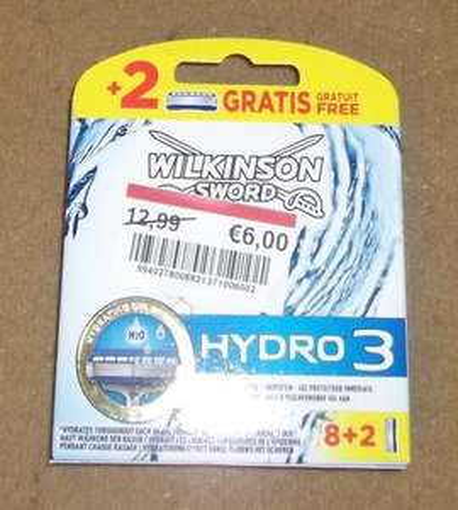 [Lokal Real Bielefeld Schweriner Str.] Wilkinson Sword Hydro 3 Klingen 8+2 Stück für 6€