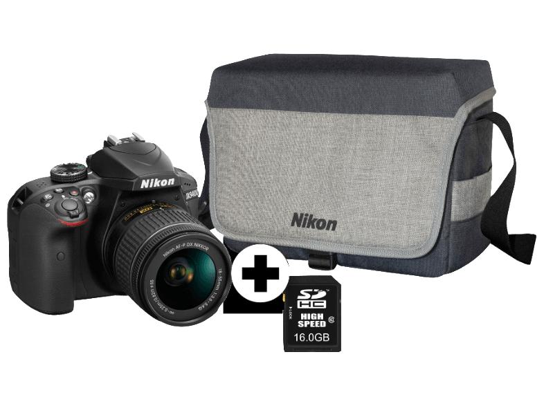 Spiegelreflexkamera Nikon D3400 Kit plus 50 € Coupon (Media Markt mit masterpass sogar nur noch 313 €)