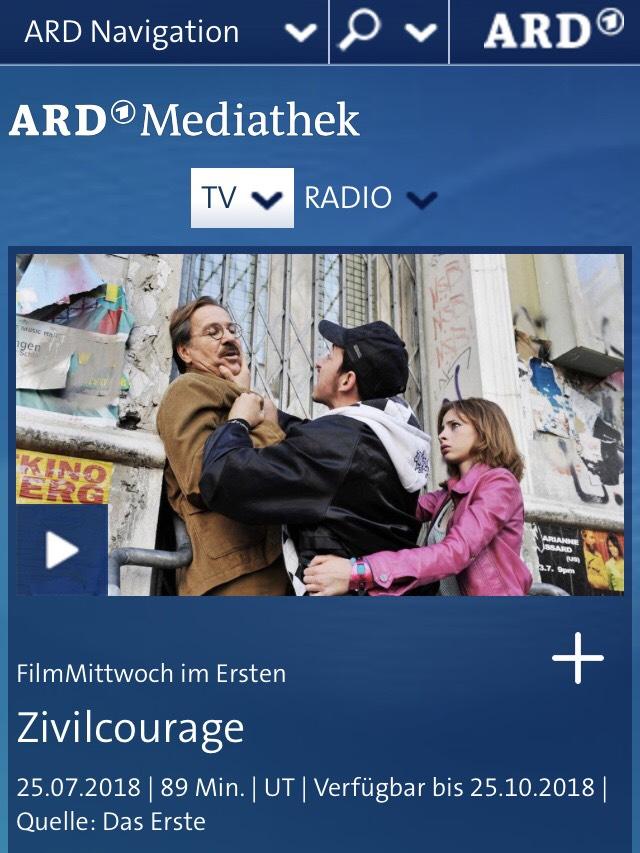 Zivilcourage ein Film mit Götz George @ ardmediathek.de