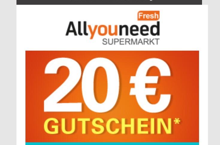 Allyouneedfresh Gutscheincode 20€ Rabatt ab 60€