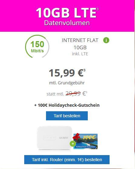 Telekom Daten-Flat: 10 GB Datenflat bei MODEO